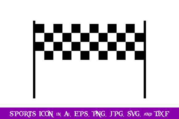 Download Free Checkered Flag Sport Icon Graphic By Purplespoonpirates for Cricut Explore, Silhouette and other cutting machines.