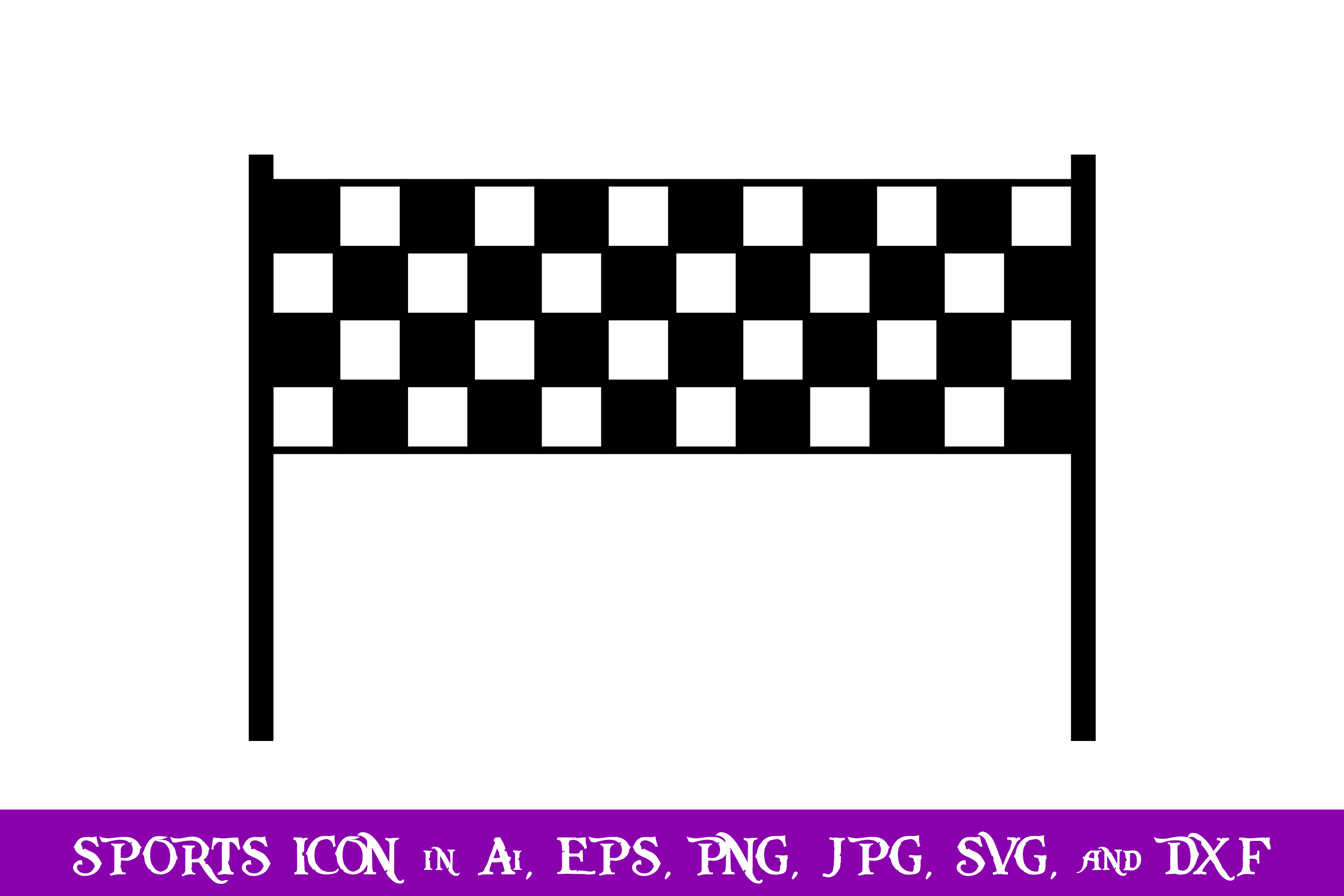 Download Free Checkered Flag Sport Icon Graphic By Purplespoonpirates SVG Cut Files