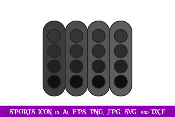 Download Free Racing Starting Lights Sport Icon Graphic By Purplespoonpirates for Cricut Explore, Silhouette and other cutting machines.
