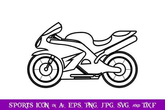 Download Free Racing Motorcycle Sport Icon Graphic By Purplespoonpirates SVG Cut Files