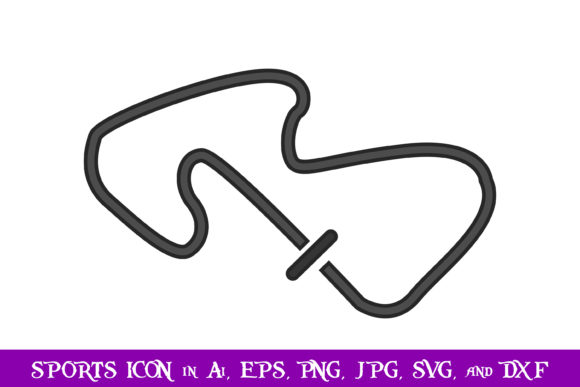 Download Free Track Race Sport Icon Graphic By Purplespoonpirates Creative for Cricut Explore, Silhouette and other cutting machines.