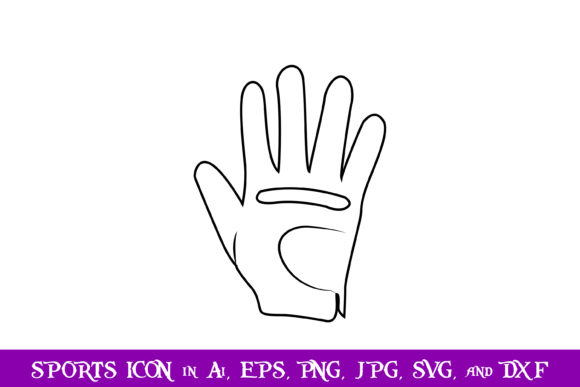 Download Free Golf Gloves Sport Icon Graphic By Purplespoonpirates Creative for Cricut Explore, Silhouette and other cutting machines.