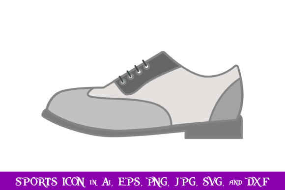 Download Free Golf Shoes Sport Icon Graphic By Purplespoonpirates Creative for Cricut Explore, Silhouette and other cutting machines.