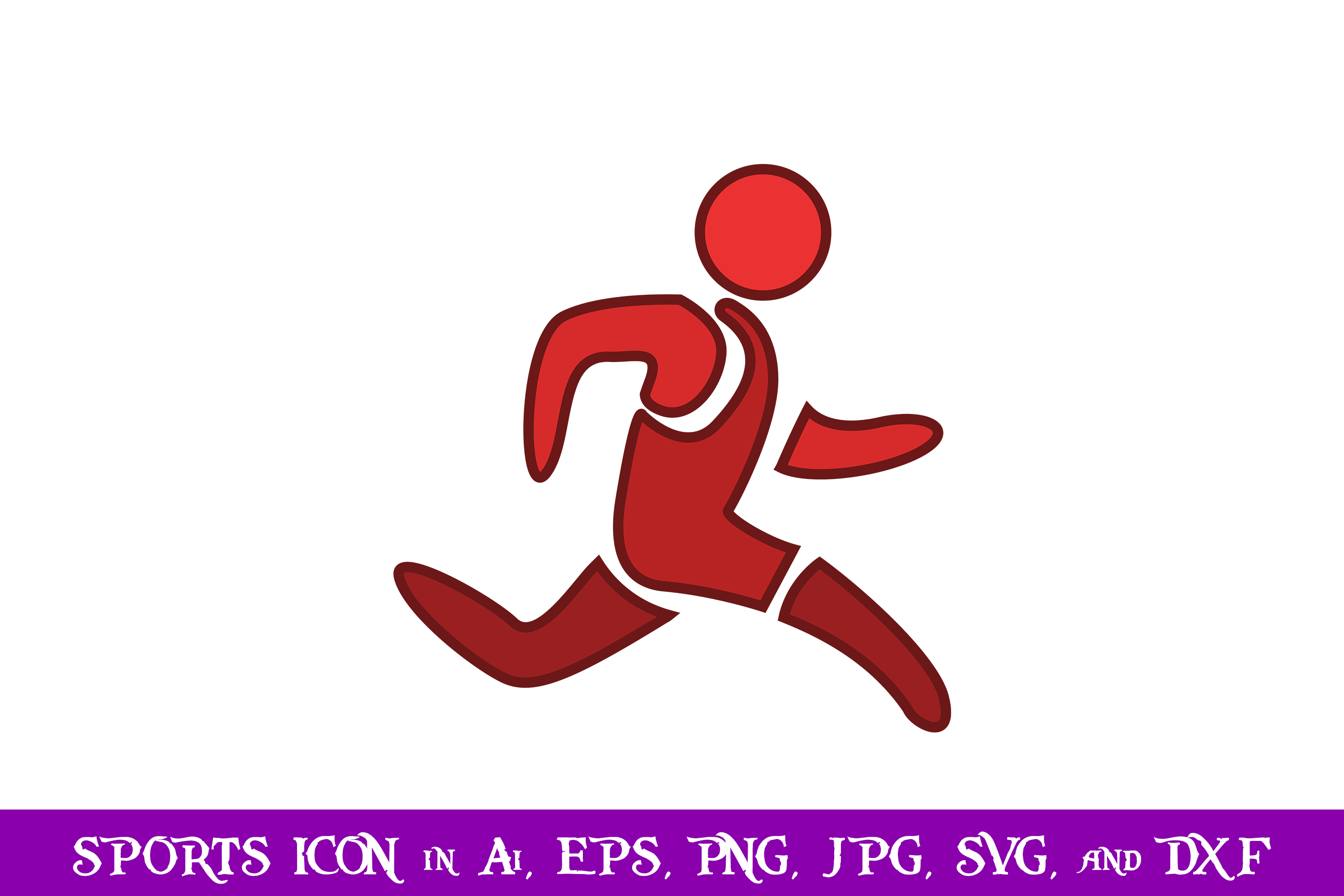 Download Free Running Sport Icon Graphic By Purplespoonpirates Creative Fabrica for Cricut Explore, Silhouette and other cutting machines.