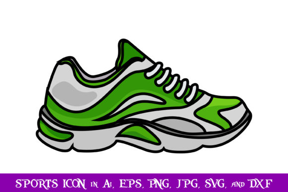Download Free Athlete Shoes Sport Icon Graphic By Purplespoonpirates for Cricut Explore, Silhouette and other cutting machines.