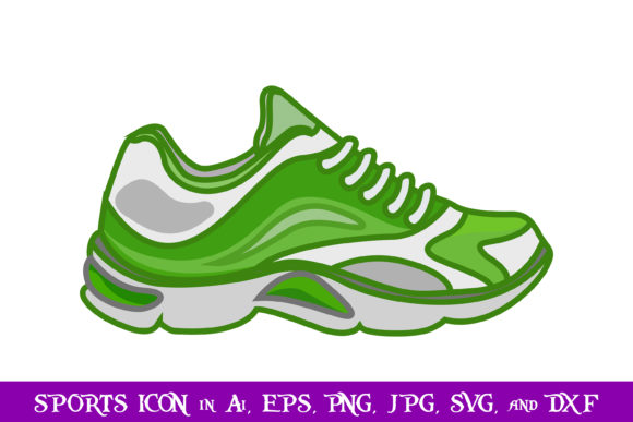 Download Free Running Shoe Sport Icon Graphic By Purplespoonpirates Creative for Cricut Explore, Silhouette and other cutting machines.