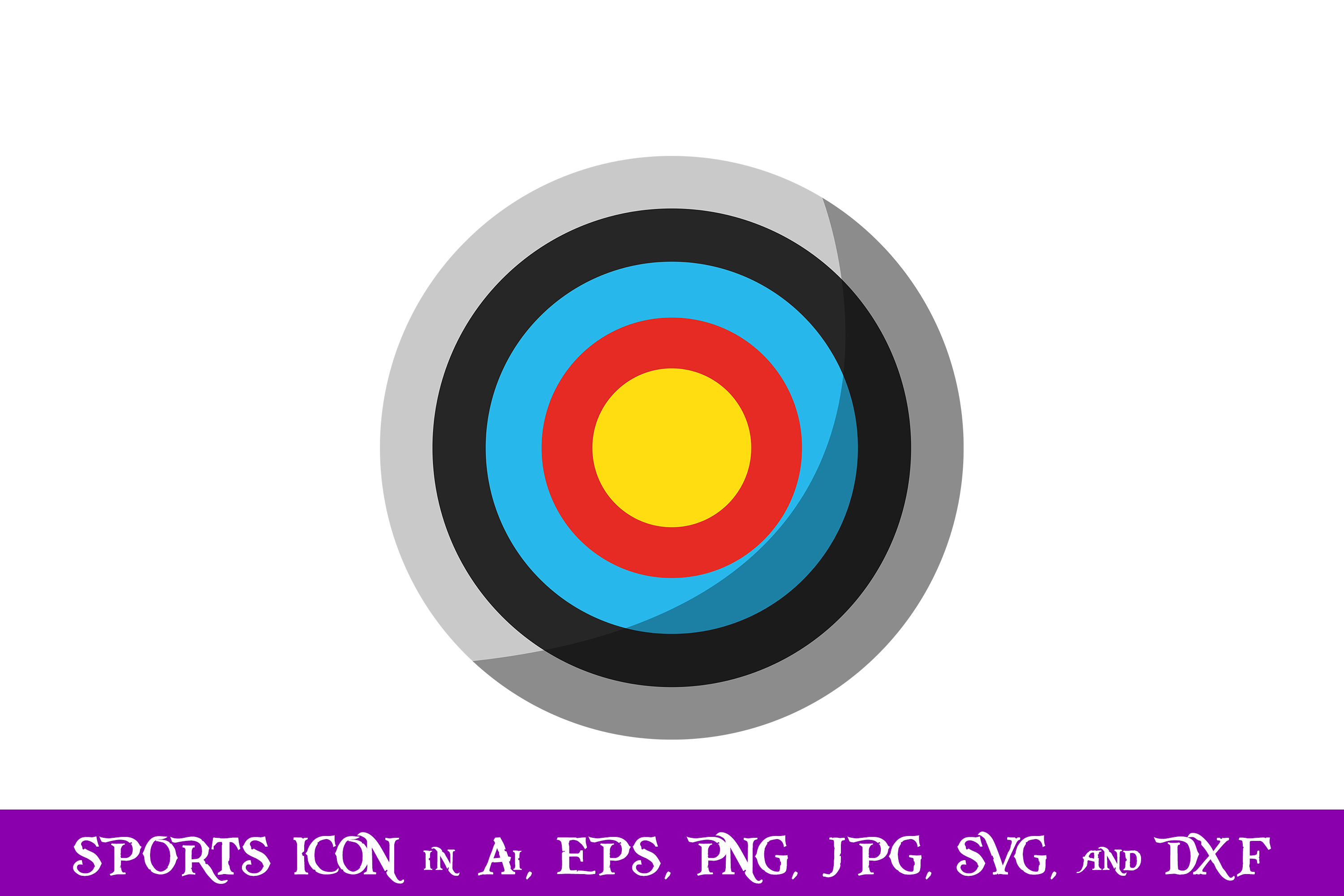 Archery Target Sport Icon Graphic By Purplespoonpirates