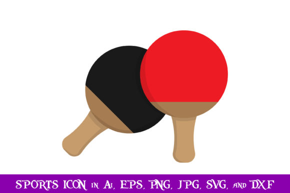 Download Free Table Tennis Racket Sport Icon Graphic By Purplespoonpirates for Cricut Explore, Silhouette and other cutting machines.