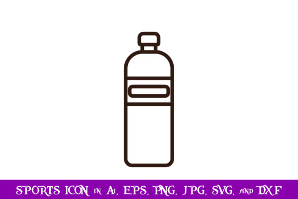 Download Free Water Bottle Sport Icon Graphic By Purplespoonpirates Creative for Cricut Explore, Silhouette and other cutting machines.