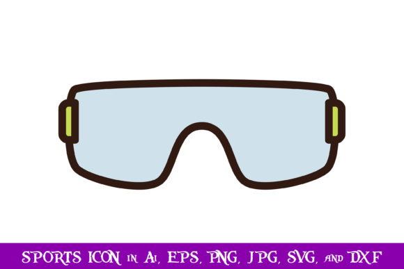 Download Free Glasses Sport Icon Graphic By Purplespoonpirates Creative Fabrica for Cricut Explore, Silhouette and other cutting machines.