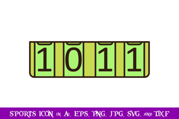 Download Free Ping Pong Scoreboard Sport Icon Graphic By Purplespoonpirates for Cricut Explore, Silhouette and other cutting machines.