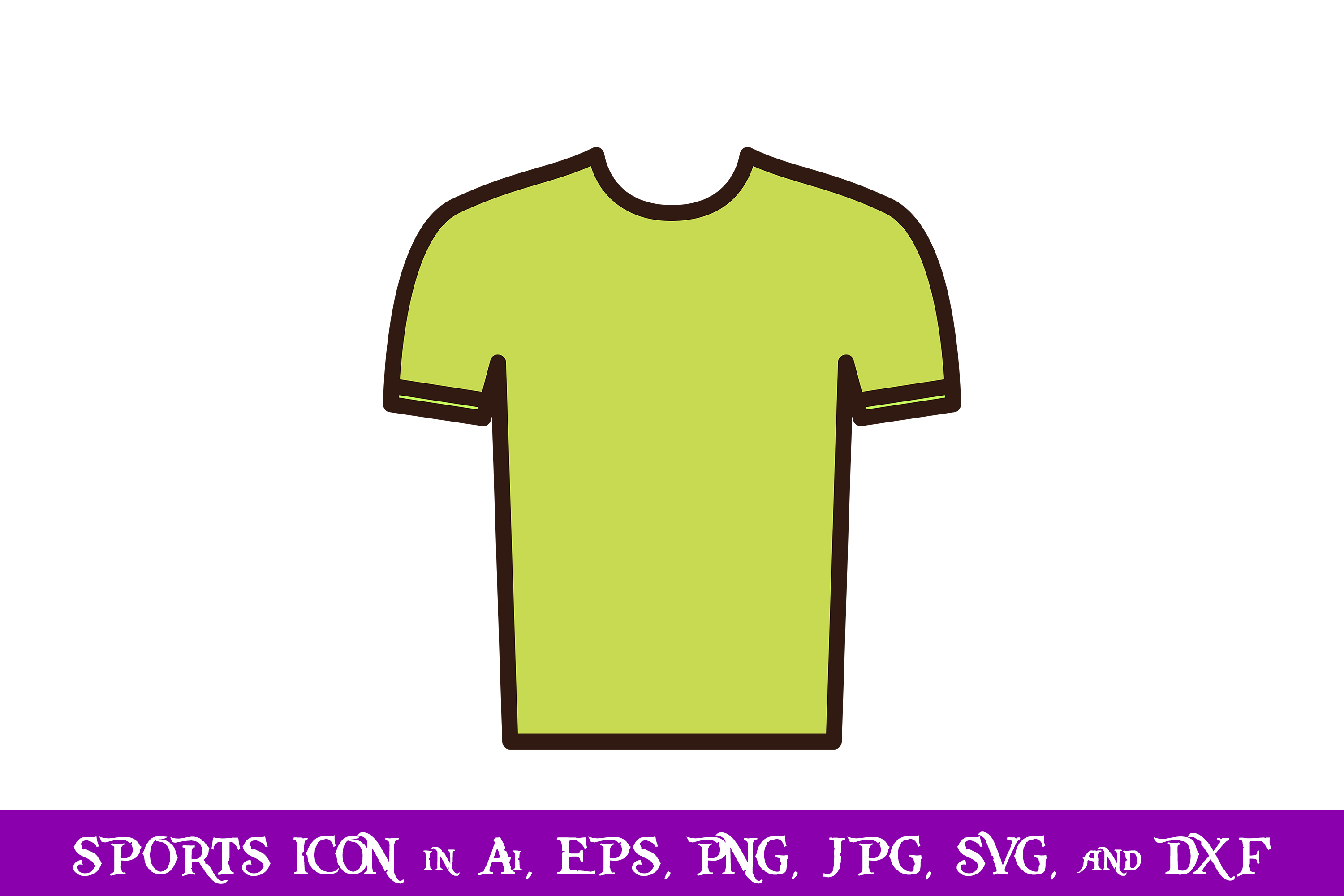 Download Free Shirt Sport Icon Graphic By Purplespoonpirates Creative Fabrica for Cricut Explore, Silhouette and other cutting machines.