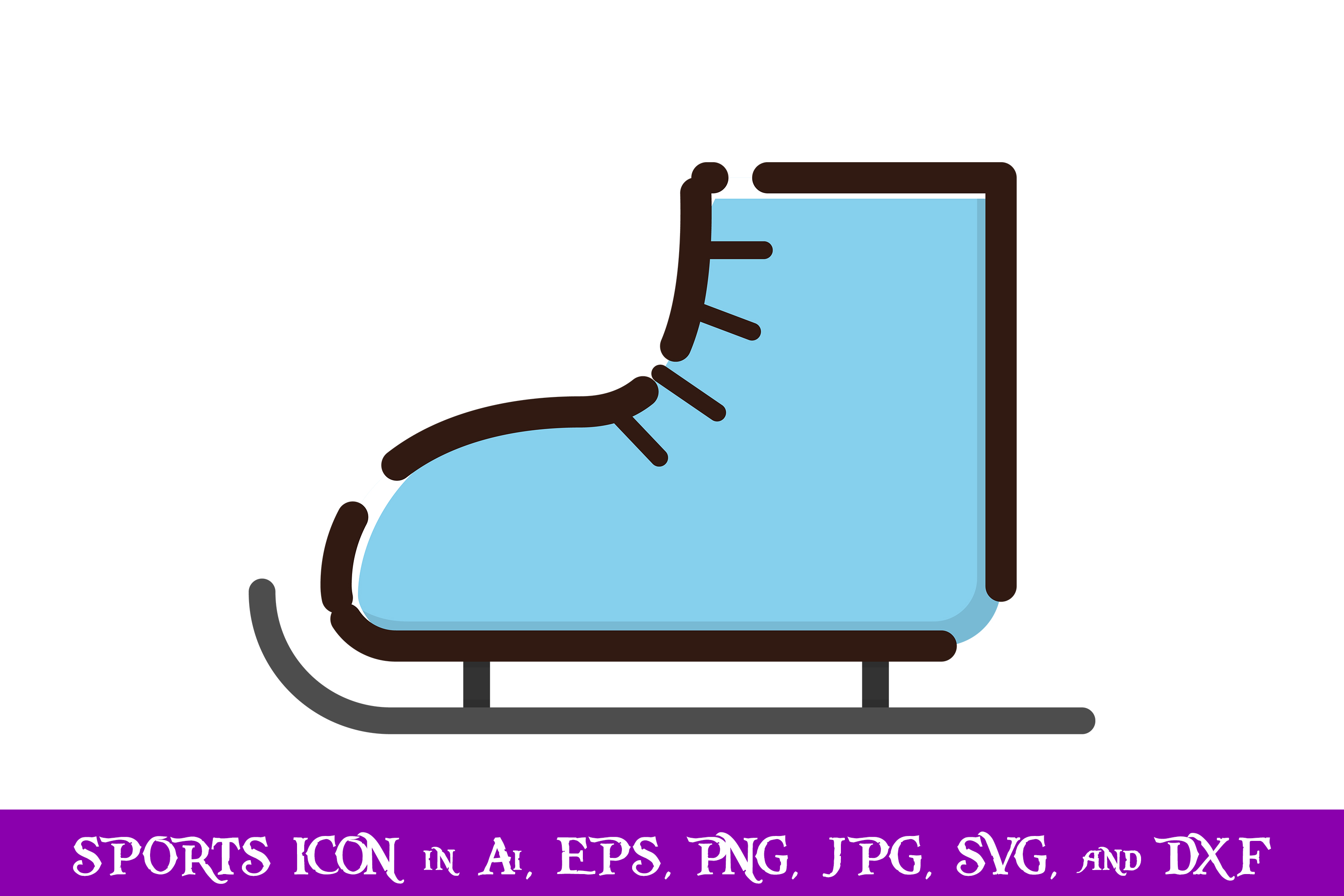 Download Free Ice Skates Sport Icon Graphic By Purplespoonpirates Creative for Cricut Explore, Silhouette and other cutting machines.