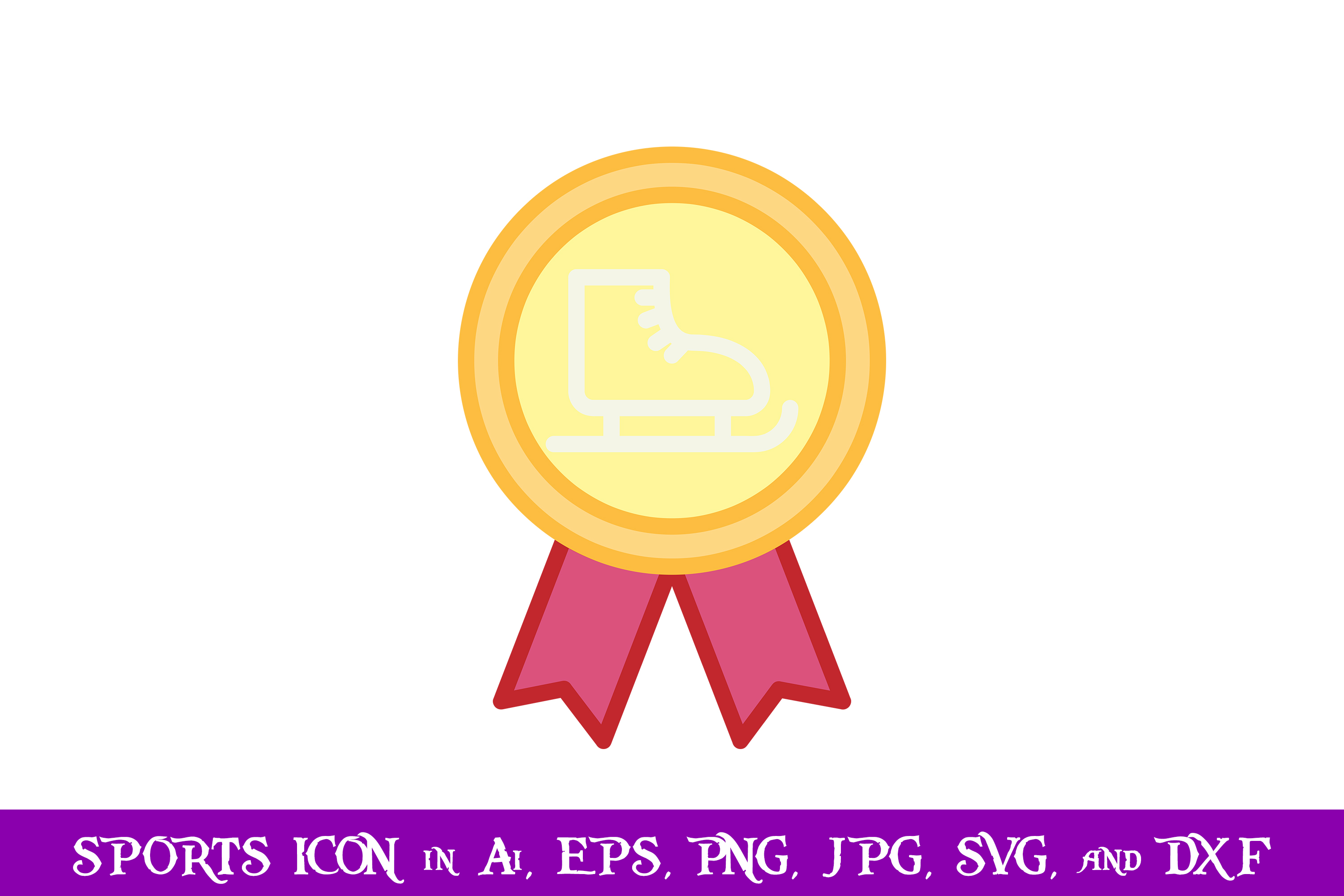 Download Free Ice Skates Badge Sport Icon Graphic By Purplespoonpirates for Cricut Explore, Silhouette and other cutting machines.