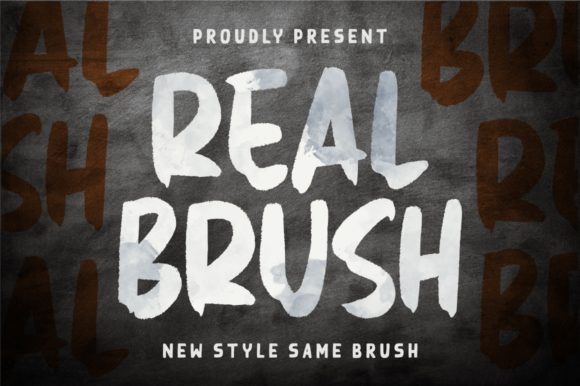 Print on Demand: Real Brush Display Font By Garisman Studio