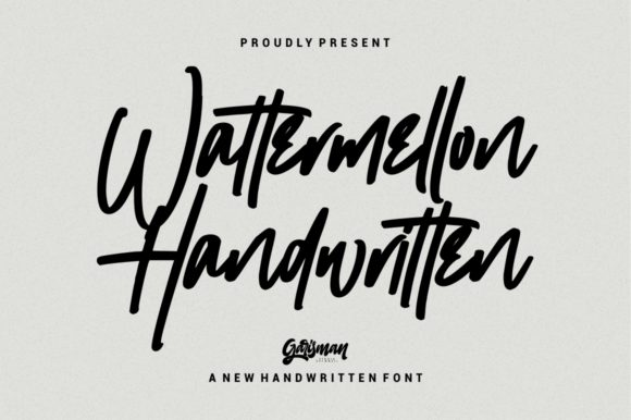 Print on Demand: Wattermellon Script & Handwritten Font By Garisman Studio