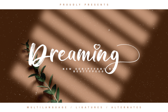 Download Free Dreaming Font By Besttypeco Creative Fabrica for Cricut Explore, Silhouette and other cutting machines.