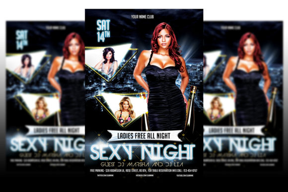Print on Demand: Sexy Night Party Flyer Graphic Print Templates By Matthew Design