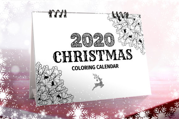 Christmas Coloring Desk Calendar 2020 Graphic Print Templates By ilonitta.r
