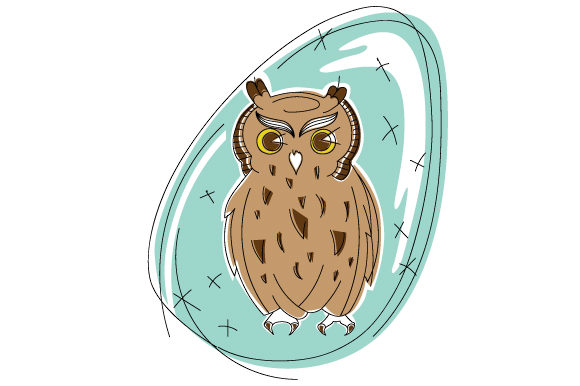 Download Free Owl In Abstract Art Style Svg Cut File By Creative Fabrica for Cricut Explore, Silhouette and other cutting machines.