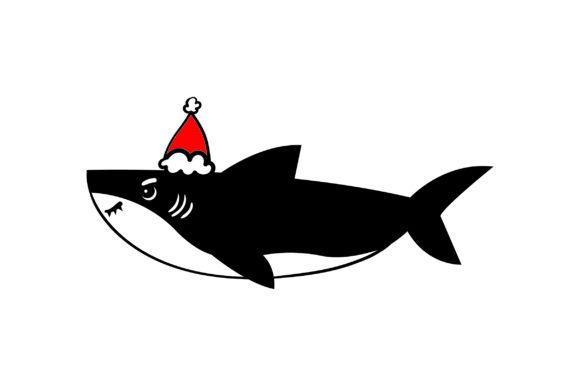 Christmas Shark Christmas Craft Cut File By Creative Fabrica Crafts - Image 1
