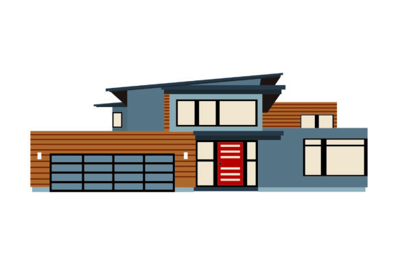 Download Free Midcentury Modern Style Home Svg Cut File By Creative Fabrica for Cricut Explore, Silhouette and other cutting machines.