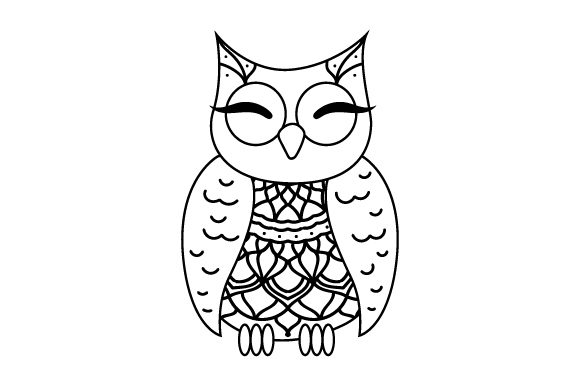Download Free Owl Mandala Line Art Style Svg Cut File By Creative Fabrica for Cricut Explore, Silhouette and other cutting machines.