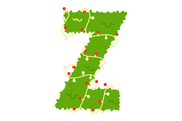 Download Free Christmas Letter Z Svg Cut File By Creative Fabrica Crafts for Cricut Explore, Silhouette and other cutting machines.