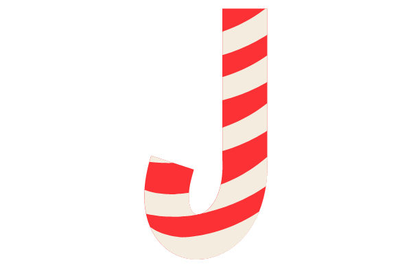 Christmas Letter J Christmas Craft Cut File By Creative Fabrica Crafts