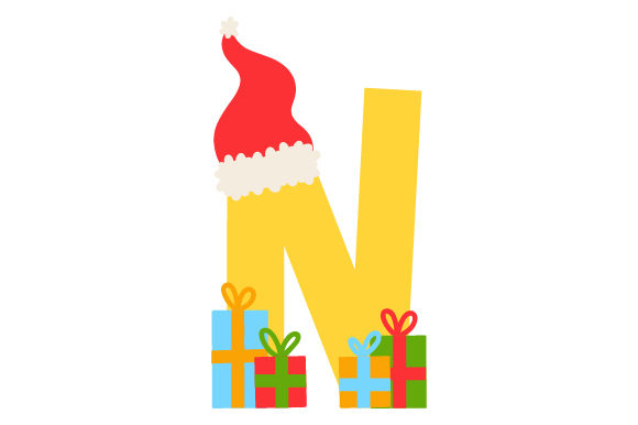 Christmas Letter N Christmas Craft Cut File By Creative Fabrica Crafts