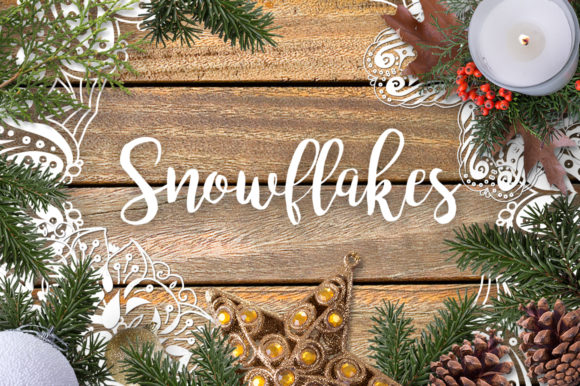 Snowflakes - Xmas Lacy Coloring Pages Graphic Illustrations By ilonitta.r