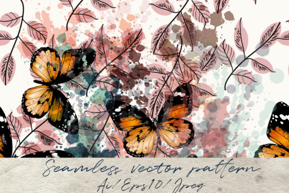 Butterfly Pattern Engraved Retro Style Graphic