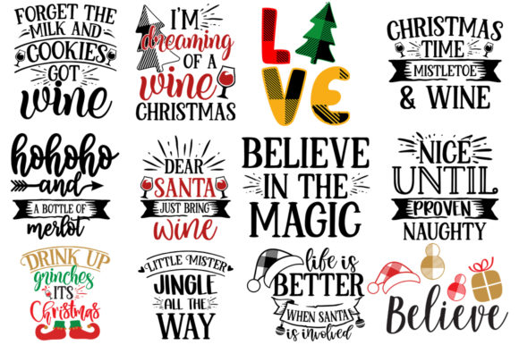 Download Free 55 Christmas Bundle Graphic By Designdealy Com Creative Fabrica for Cricut Explore, Silhouette and other cutting machines.