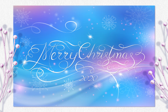 Merry Christmas Calligraphy Gift Card Graphic Illustrations By ilonitta.r - Image 3
