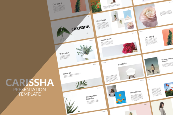 Print on Demand: Carissha - Powerpoint Template Graphic Presentation Templates By nirmala.graphics