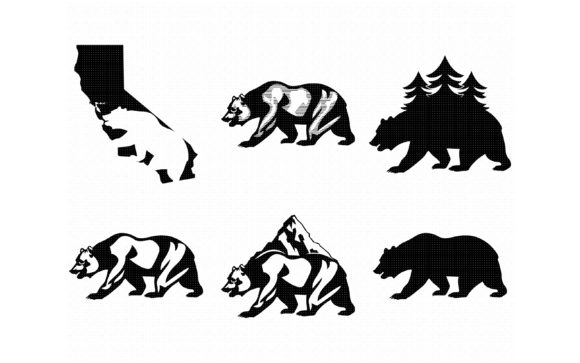 Print on Demand: California Grizzly and Black Bear Graphic Crafts By CrafterOks