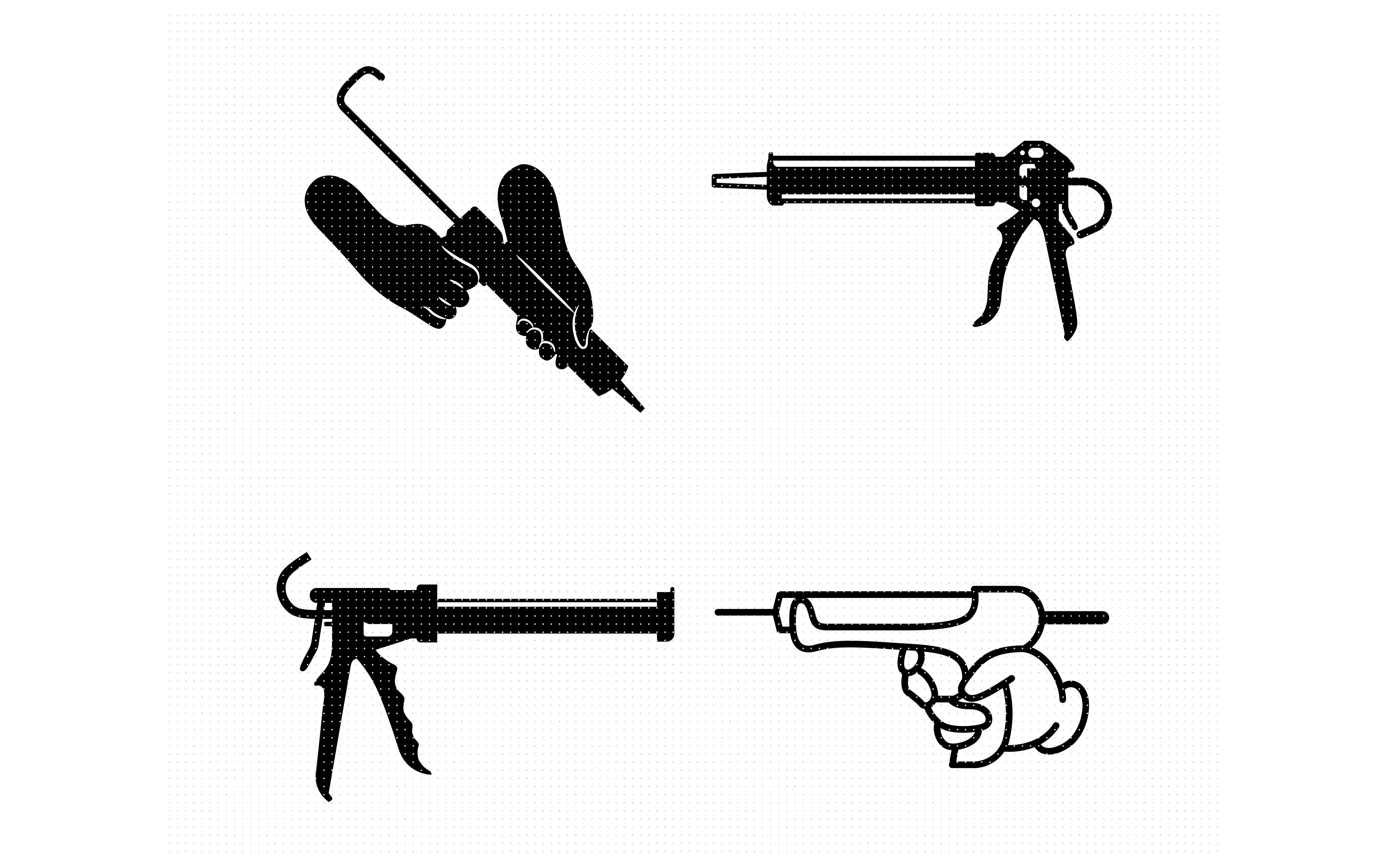 Download Free Caulking And Caulk Gun Adhesive Graphic By Crafteroks Creative for Cricut Explore, Silhouette and other cutting machines.