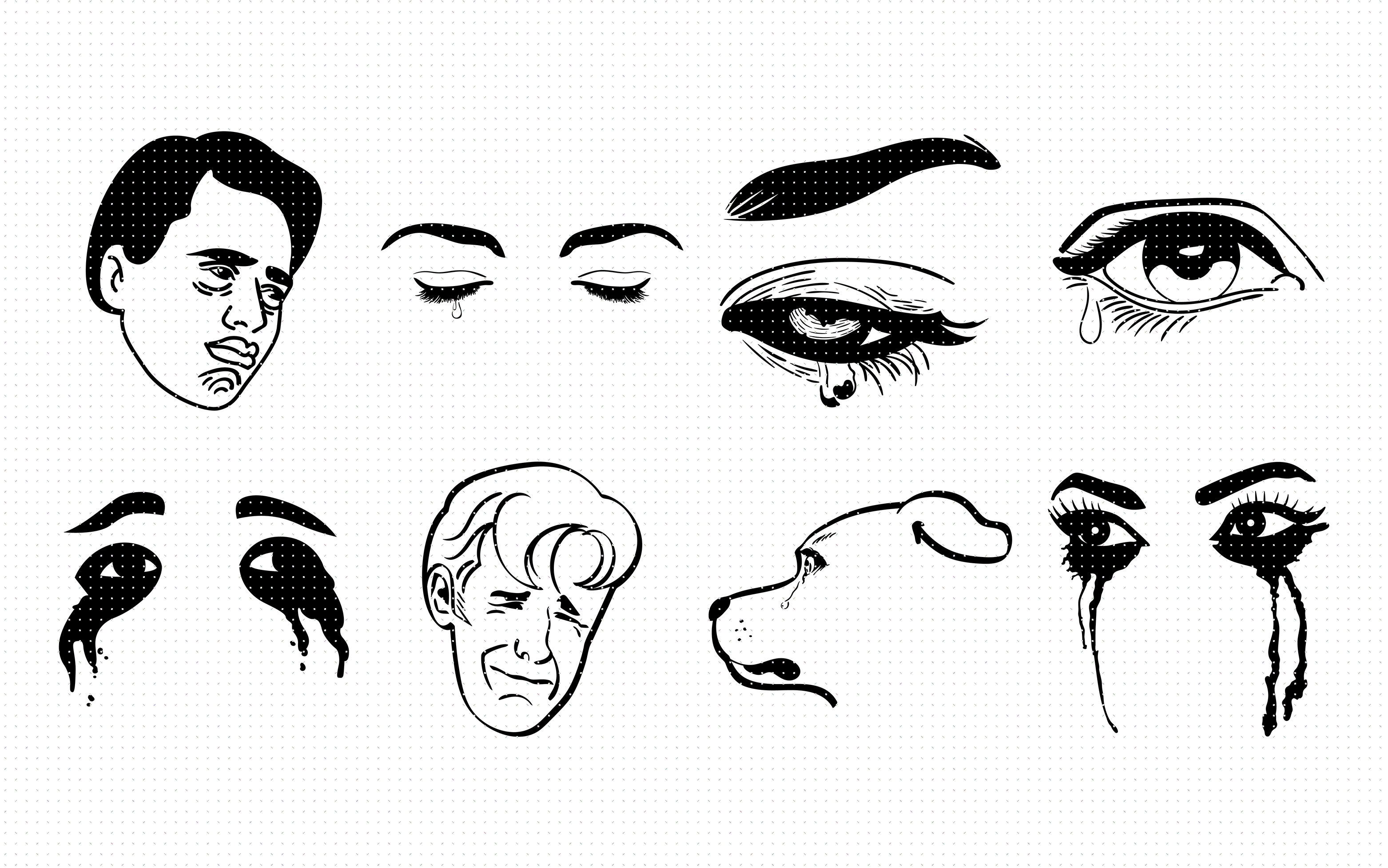 Download Free Crying Eyes Tears And Mascara Graphic By Crafteroks Creative SVG Cut Files