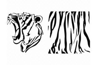 Download Free Growling Tiger Animal Print Pattern Graphic By Crafteroks for Cricut Explore, Silhouette and other cutting machines.