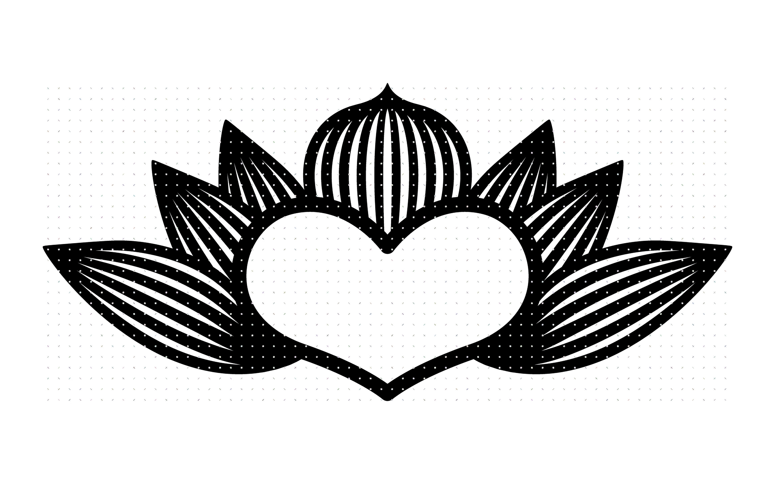 Download Free Lotus Heart Flower Graphic By Crafteroks Creative Fabrica for Cricut Explore, Silhouette and other cutting machines.