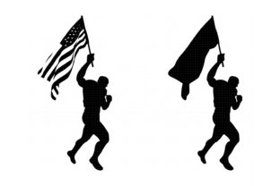 Download Free Man Waving The American Flag Graphic By Crafteroks Creative SVG Cut Files