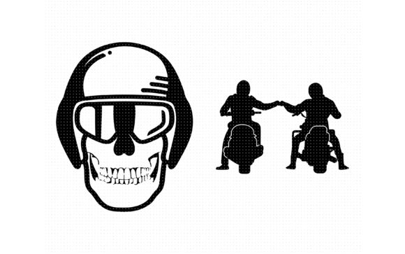 Download Free Motorbike Bro Fist Bump Graphic By Crafteroks Creative Fabrica for Cricut Explore, Silhouette and other cutting machines.