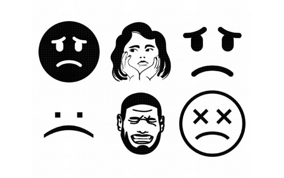 Download Free Sad And Crying Face Graphic By Crafteroks Creative Fabrica SVG Cut Files