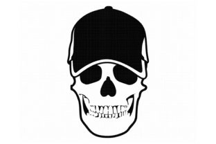 Download Free Skull Wearing A Baseball Cap Graphic By Crafteroks Creative for Cricut Explore, Silhouette and other cutting machines.