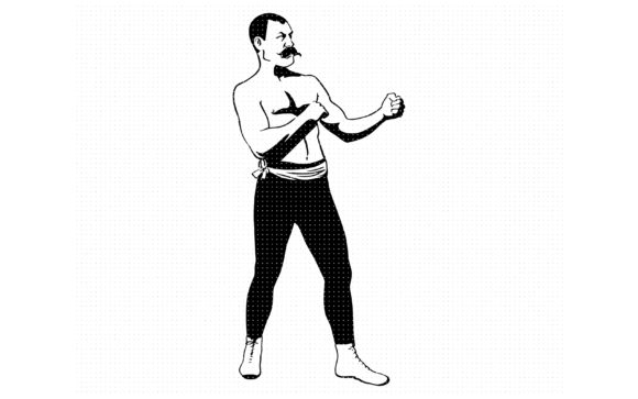 Download Free Vintage Mustache Male Boxer Graphic By Crafteroks Creative Fabrica for Cricut Explore, Silhouette and other cutting machines.