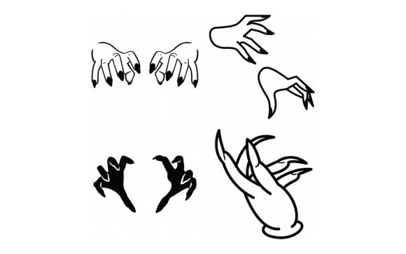 Download Free Long Witch Nails And Hands Graphic By Crafteroks Creative Fabrica for Cricut Explore, Silhouette and other cutting machines.