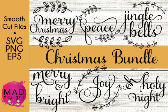 Fancy Christmas SVG Bundle Graphic By maddesigns718