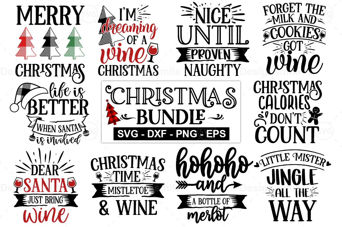 Download Free Christmas Bundle Graphic By Designdealy Com Creative Fabrica for Cricut Explore, Silhouette and other cutting machines.