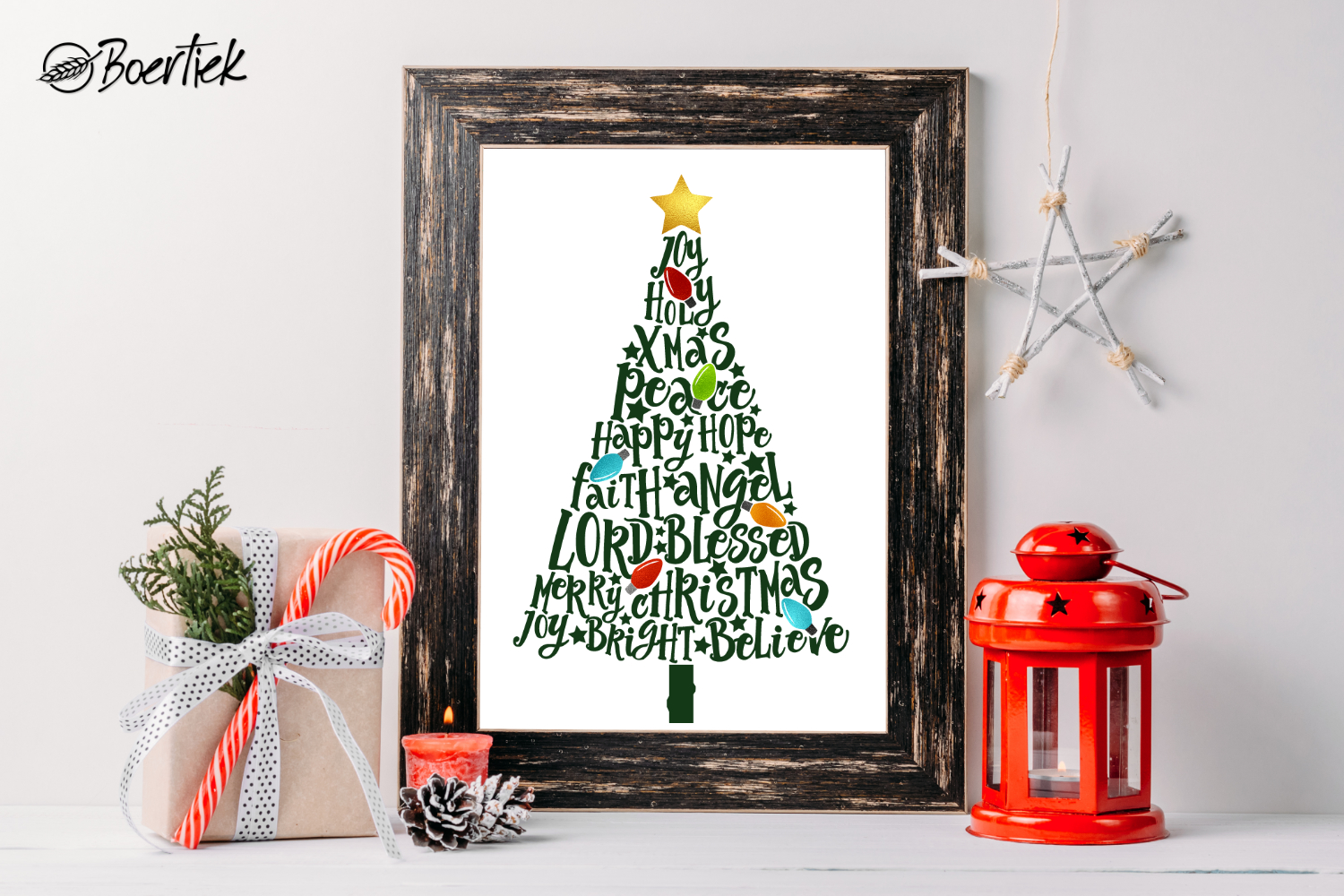 Download Free Christmas Tree Graphic By Boertiek Creative Fabrica for Cricut Explore, Silhouette and other cutting machines.