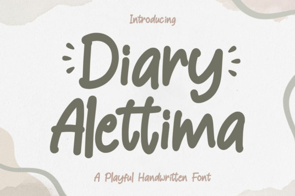 Print on Demand: Diary Alettima Display Font By Kotak Kuning Studio